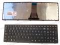 Клавиатура  за  лаптоп Lenovo IdeaPad G500S G505S S500 S510p Flex 15 T6E1-Nod 25211101 ЧЕРНА  РАМКА